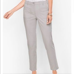 NWT Talbots patch slim ankle cargo chino pants 6